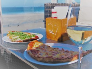 Pizza wine and sea view Surf Beach Cafe - places to eat