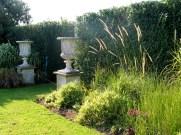 Grasses soften the entrance