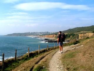 The coastal footpath east of the farm