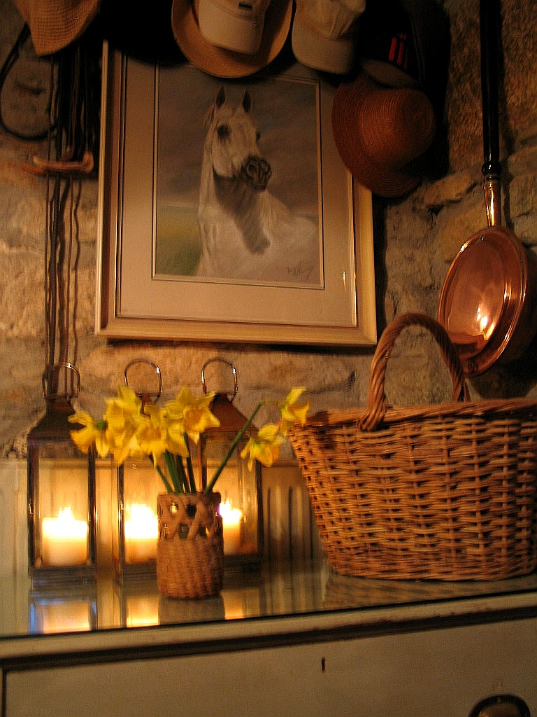 A corner of the hall at Ednovean Farm