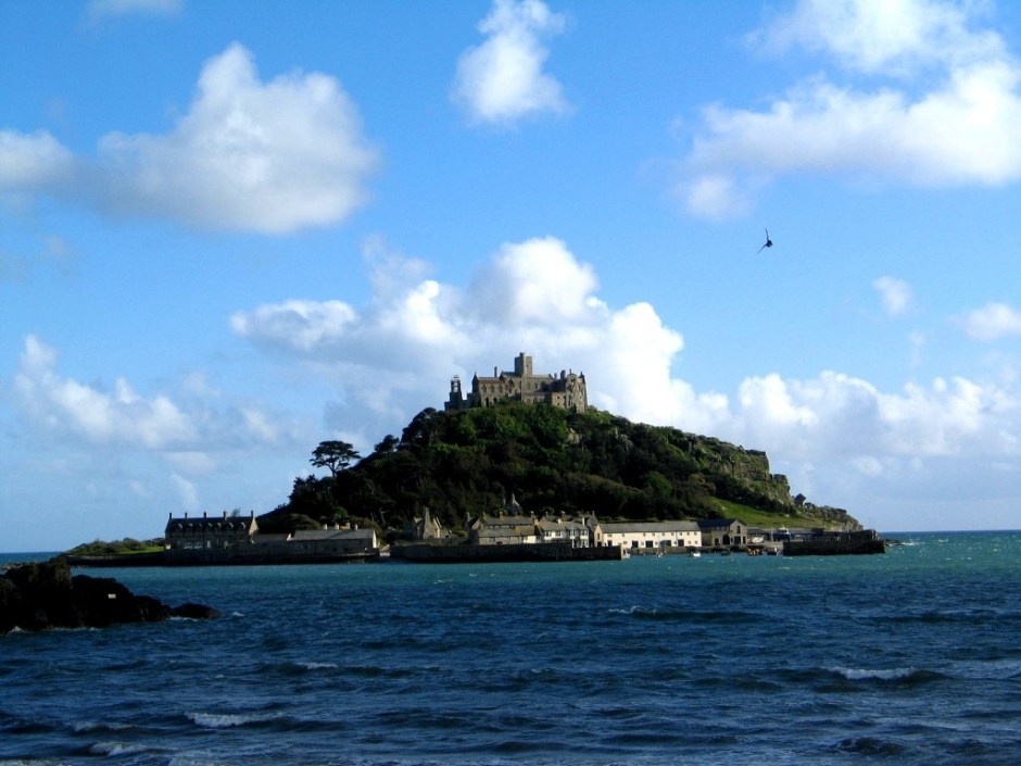 St Michael's Mount in Mounts bay not far from Ednovean Farm