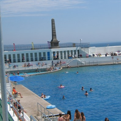 The art deco lido in mid summer