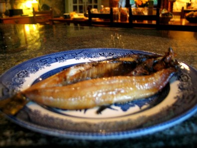 Freshly cooked Kippers for breakfast