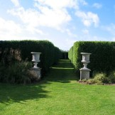 Avenue of a formal garden