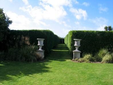 Avenue of a formal garden