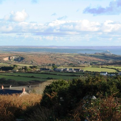 a view from west penwith to the Lizard in