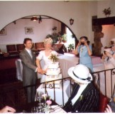 Our wedding day on the 11th of may 1991 - one of my favorite pictures not the professional one but one taken by my father with my aunts vying for photos
