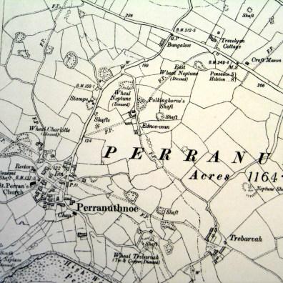 1887 map Perranuthnoe