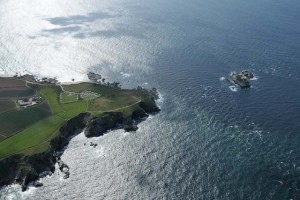 Aerial view of Land's End -part of teh Penwith Tour a great way to explore west Cornwall