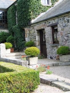 Steps beside a farmhouse