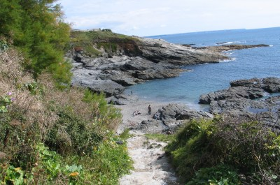 Steps down to Prussia Cove