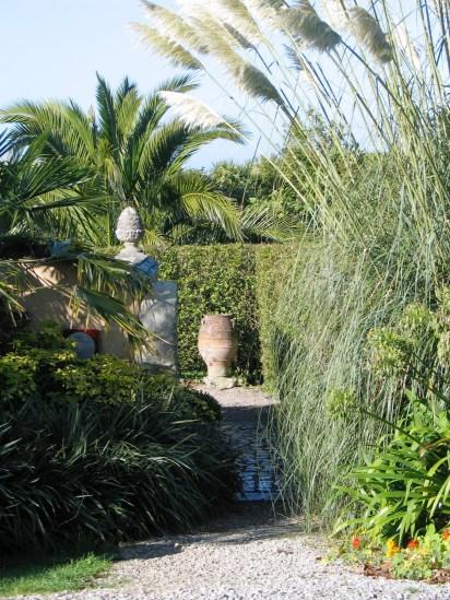 Path leading to italianate courtyard