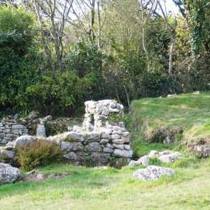 Derelict cottage carn euny