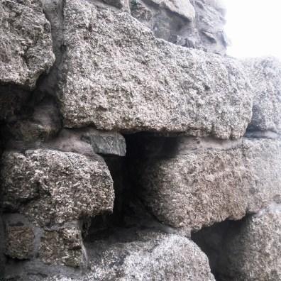 Massive granite blocks