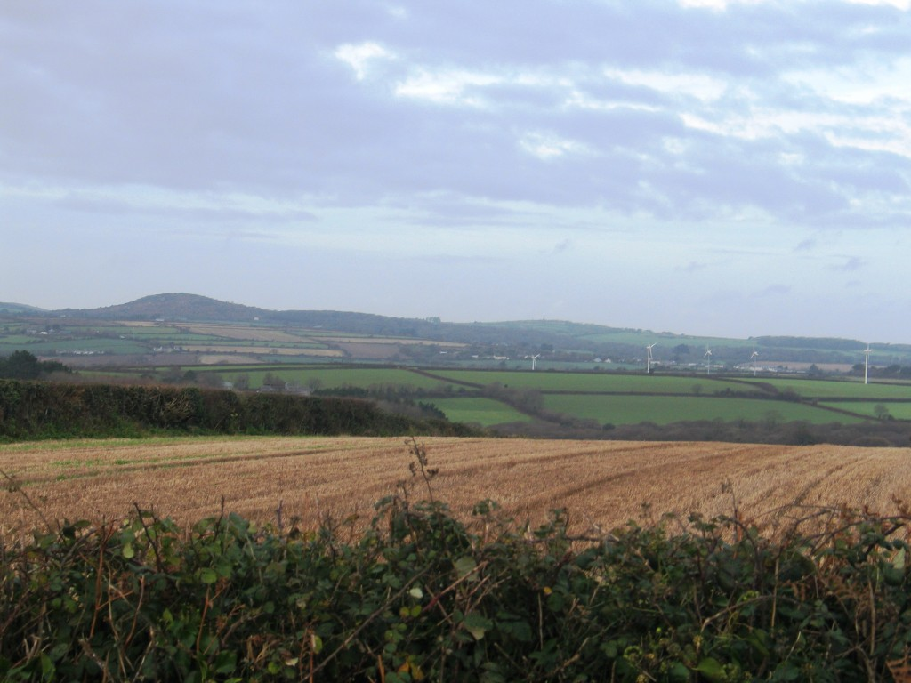A view toward Tren Crom on the St Ives side of West Penwith