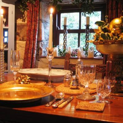 Glittering Christmas table