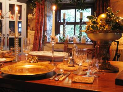 Glittering Christmas table