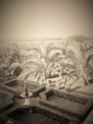 Formal garden at Ednovean Farm