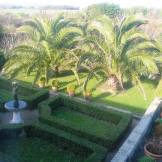 A winter view down over the Parterre