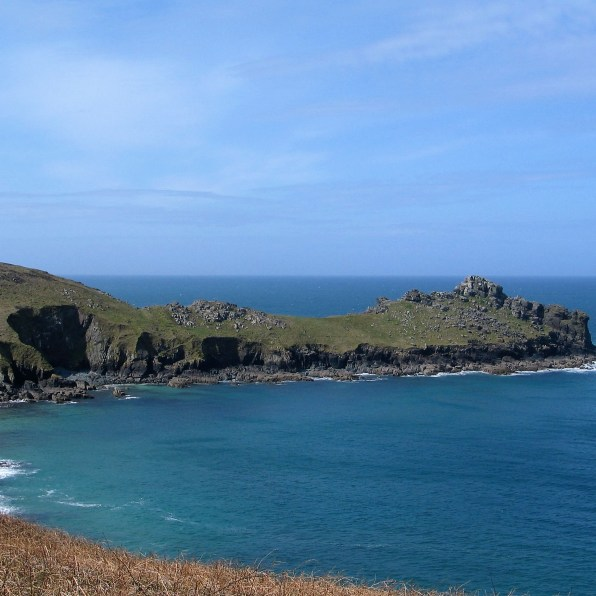 The great granite outcrop that has stood against the seas for centuries