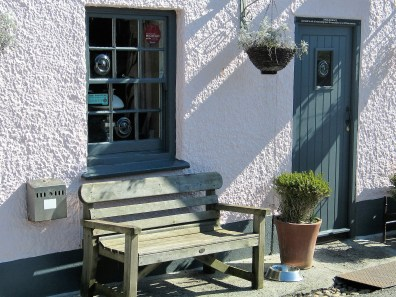 An inviting bench outside of the local pub in Perranuthnoe