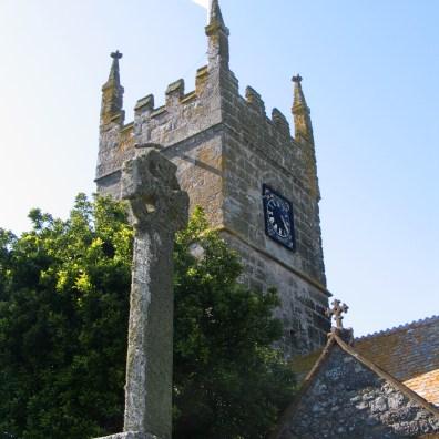 The clock tower of Perranuthnoe church