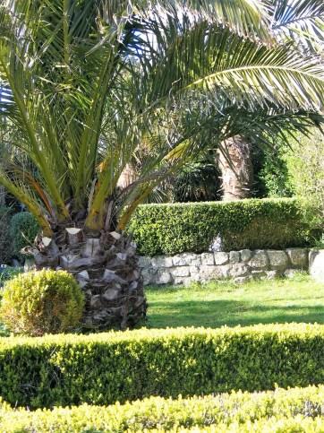 Formal gardens at Ednovean Farm in Cornwall