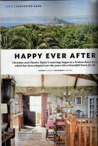 Ednovean Farm magazine article in 25 Beautiful Homes