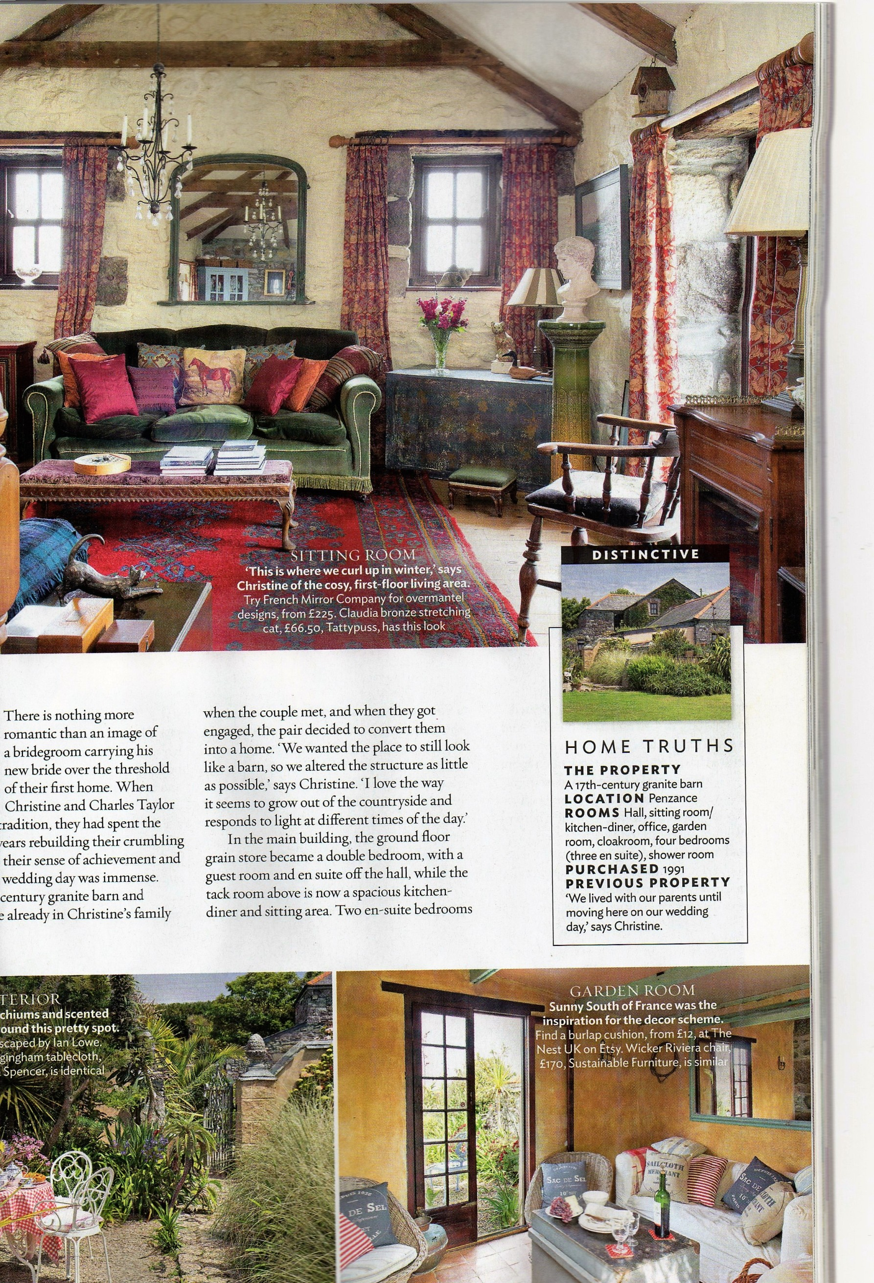 Ednovean Farm in July issue of 25 Beautiful Homes