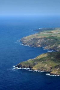 Botallack to pendeen lighthouse from the air