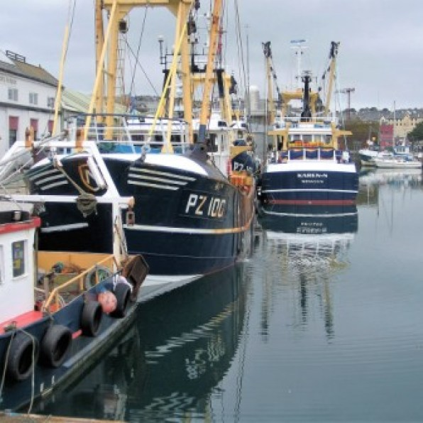 Fishing boats in penzance