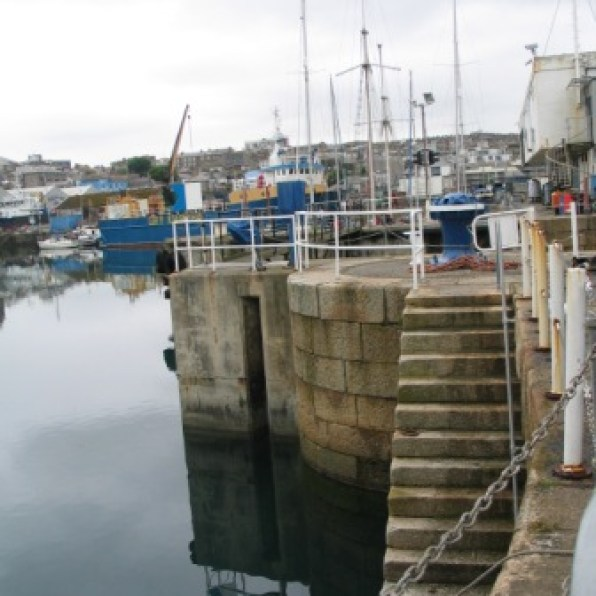 Harbour steps down to the sea in penzance