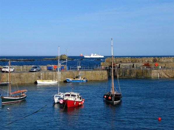 Scillonian passing Mousehole harbour
