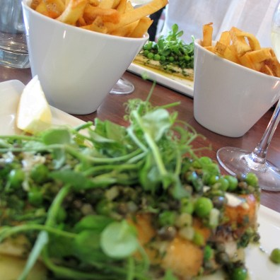 We had a gorgeous fish supper at the Square in Porthleven
