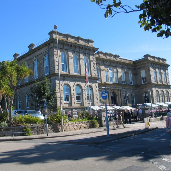 St john's hall in Penzance with penzance farmers market