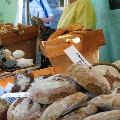 Freshly baked bread in Penzance's farmers market