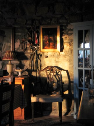 The historic old farmhouse at Ednovean Farm's interior