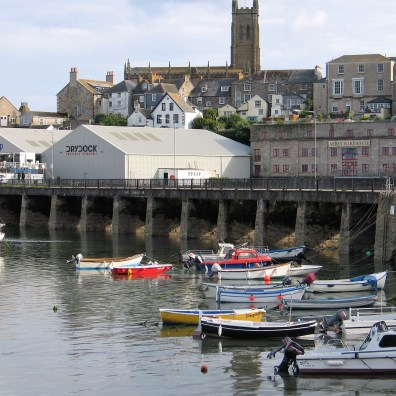 The Ross bridge with penzance town beyond