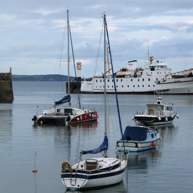 We watched teh Scillionian dock as we ate our supper in Penzance