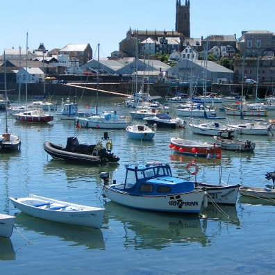 The busy harbour of penznce