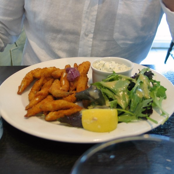 Charles had a starter of whitebait at the old lifeboat house in Penzance