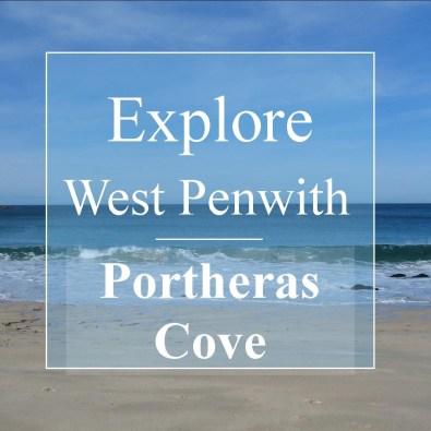 sea breaking on portheras beach - explore cornwall