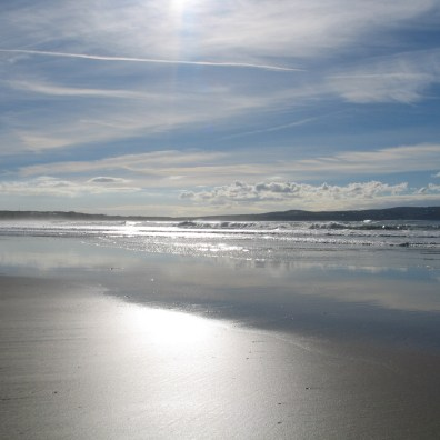 light reflected on the sands