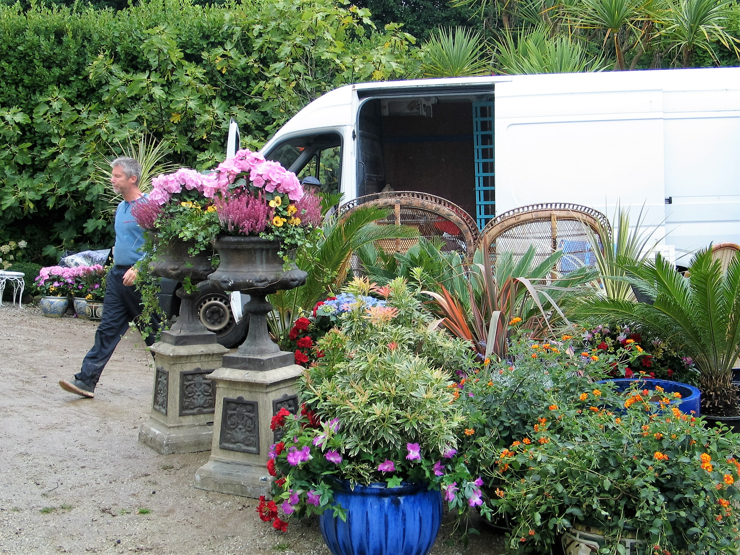 a fascinating array of plants and object began to be unloaded