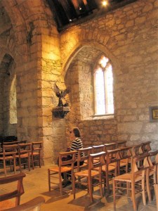 Statue of St Michael' in the Chapel on St Michael's Mount