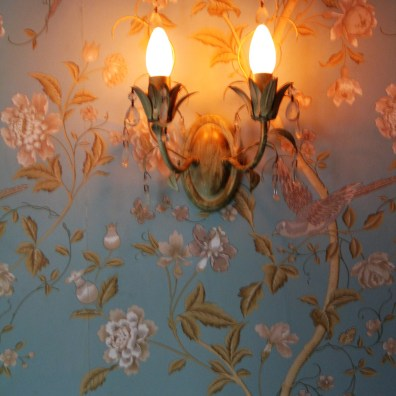 Summer Palace wallpaper in Duck Egg blue