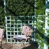 chair in an arbour