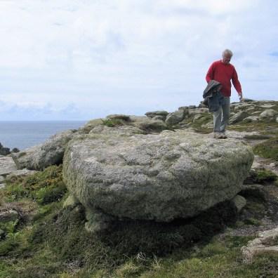exploring rocky outcrops