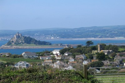 View over Perranuthnoe to St Michael's Mount