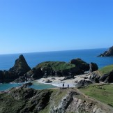 cliff top view over cove